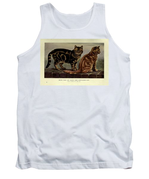 Brown Tabby And Orange Tabby Cats Tank Top