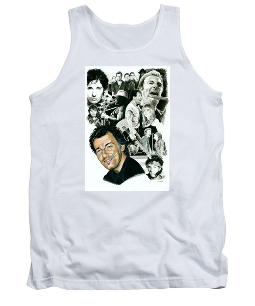 Bruce Springsteen Through The Years Tank Top by Ken Branch