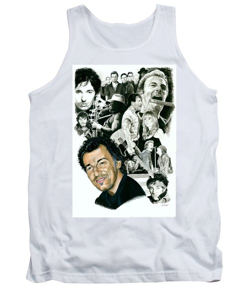 Bruce Springsteen Through The Years Tank Top