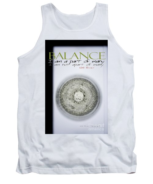 Tank Top featuring the photograph Bubbles Balance Bubbles by Vicki Ferrari