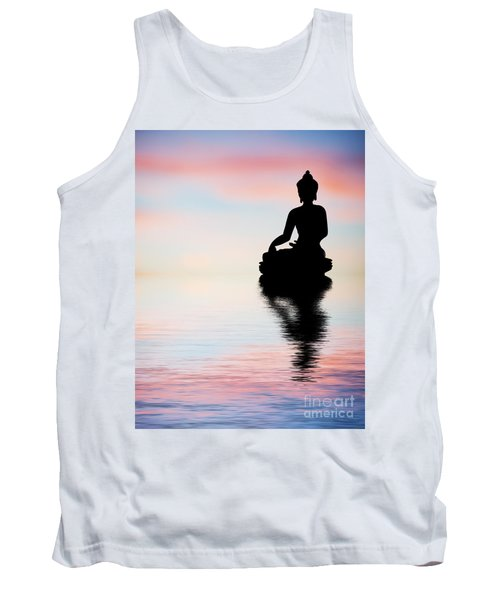 Tank Top featuring the photograph Buddha Reflection by Tim Gainey