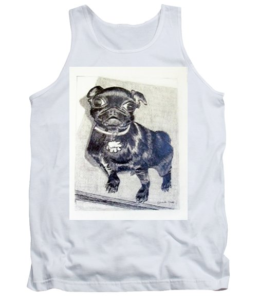 Tank Top featuring the drawing Buddy by Jamie Frier