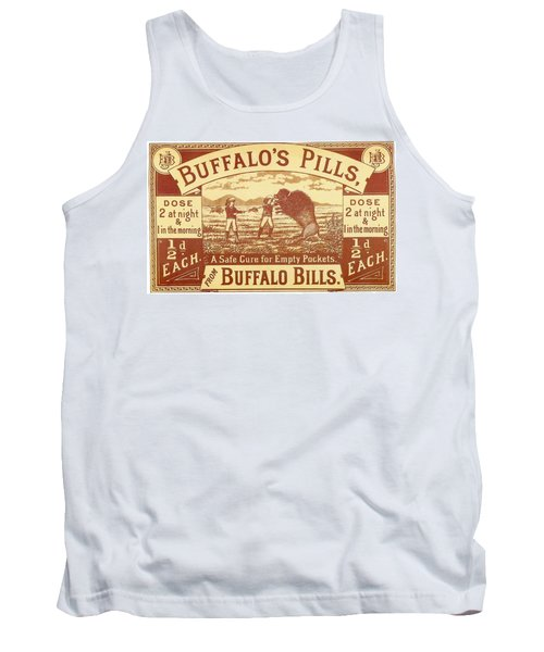 Tank Top featuring the photograph Buffalo's Pills Vintage Ad by Gianfranco Weiss