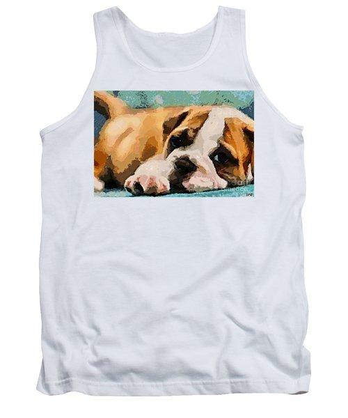 Bulldog Puppy Tank Top
