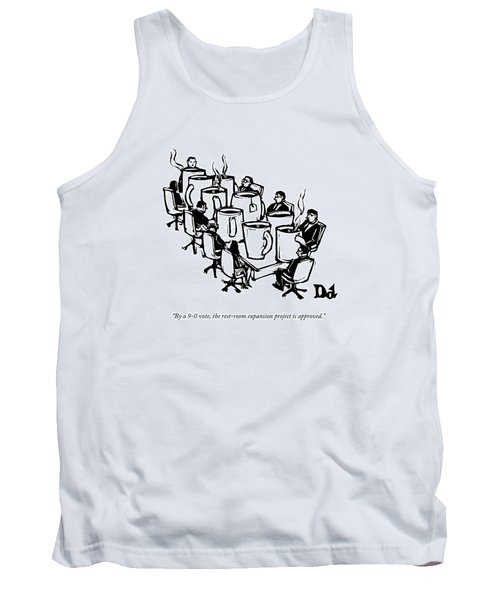 Businessmen Sit Around Conference Table Tank Top
