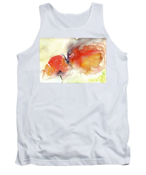 Tank Top featuring the painting Butterfly by Faruk Koksal