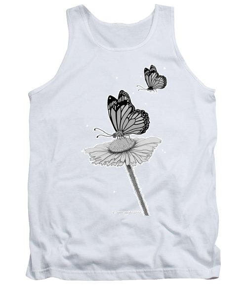 Tank Top featuring the digital art Butterfly Friends by Carol Jacobs