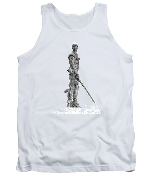 Bw Of Mountaineer Statue Tank Top