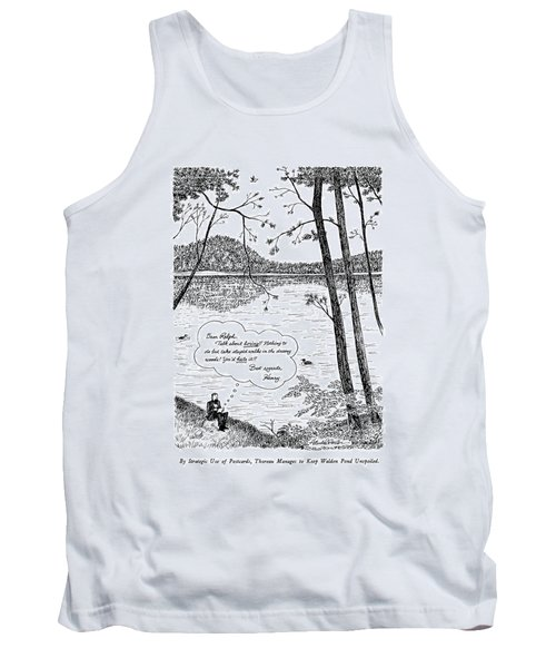By Strategic Use Of Postcards Tank Top