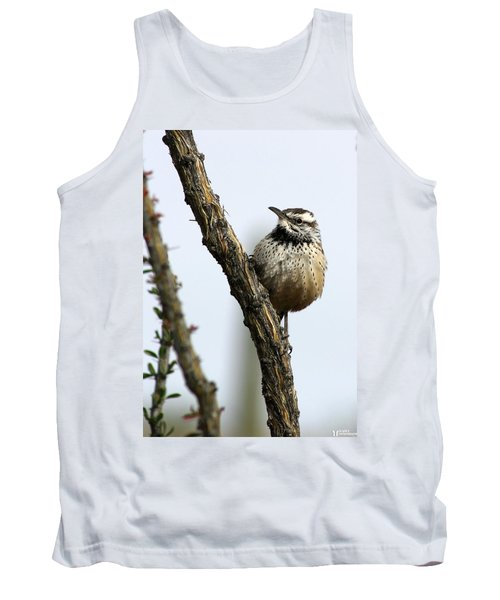 Tank Top featuring the photograph Cactus Wren by Elaine Malott