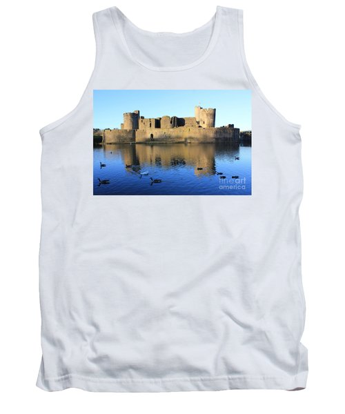 Tank Top featuring the photograph Caerphilly Castle by Vicki Spindler