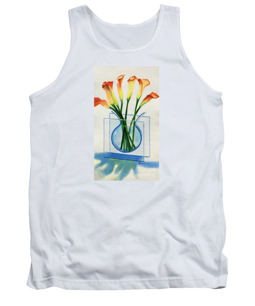 Tank Top featuring the painting Calla Lilies by Kathy Braud