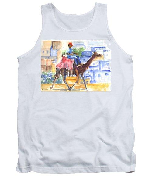 Camel Driver Tank Top by Carol Wisniewski