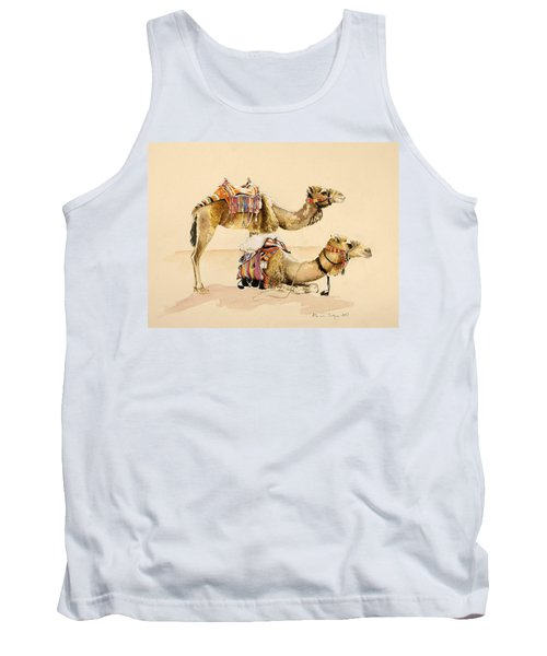 Camels From Petra Tank Top