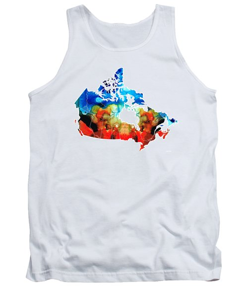 Canada - Canadian Map By Sharon Cummings Tank Top