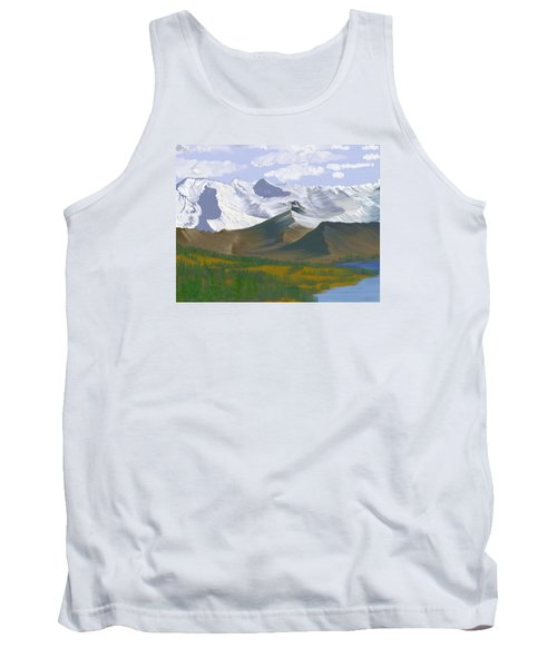 Tank Top featuring the digital art Canadian Rockies by Terry Frederick