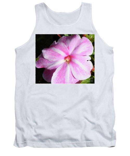Candy Cane Impatiens Tank Top by Barbara Griffin