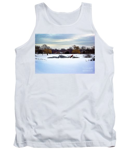 Canoes In The Snow Tank Top