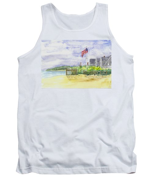 Massachusetts -cape Cod Cottages Tank Top by Christine Lathrop