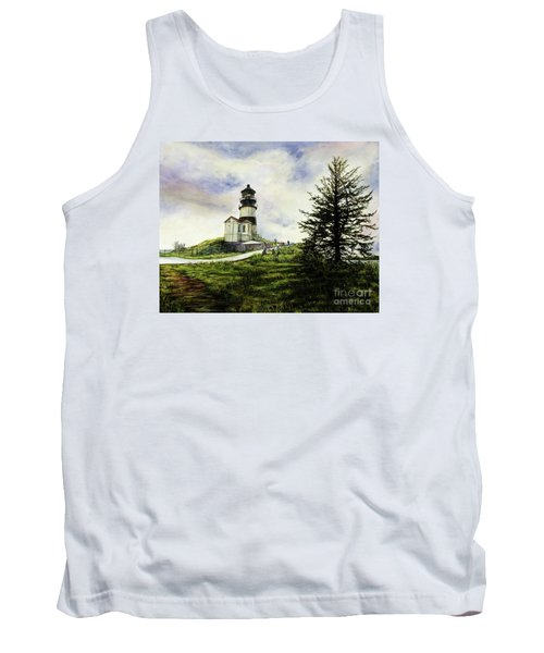 Cape Disappointment Lighthouse On The Washington Coast Tank Top