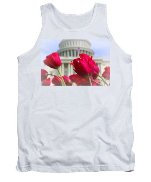 Tank Top featuring the photograph Capital Flowers  by John S