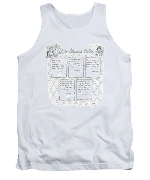 Captionless: Adult Absence Notes Tank Top