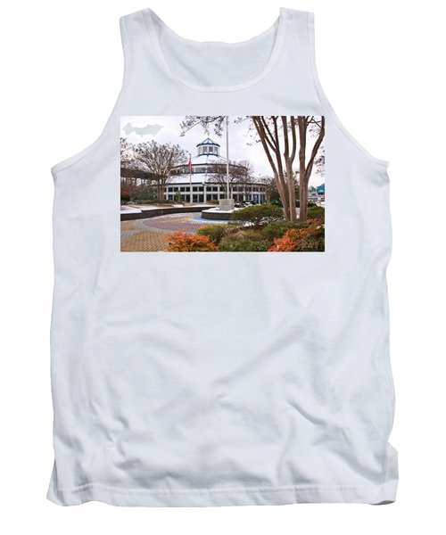 Carousel Building In Snow Tank Top
