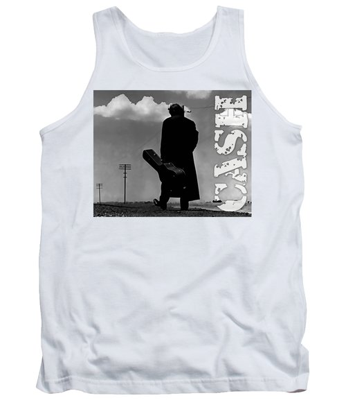 Tank Top featuring the mixed media Johnny Cash by Marvin Blaine