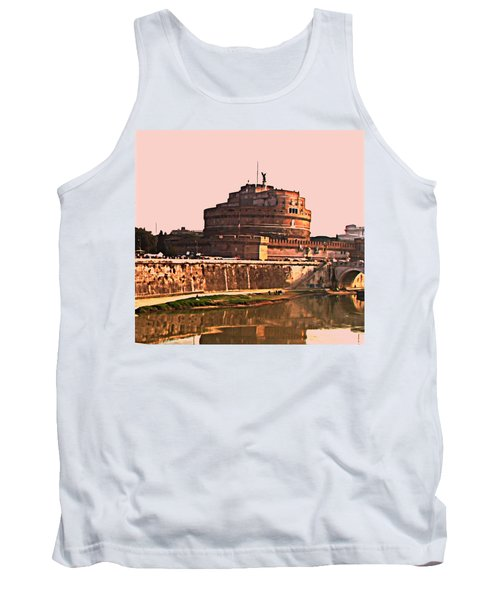 Tank Top featuring the photograph Castel Sant 'angelo by Brian Reaves