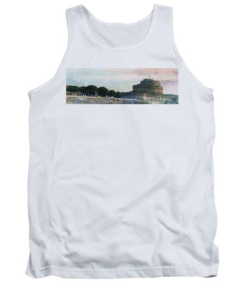 Tank Top featuring the painting Castel Sant'angelo     by Brian Reaves