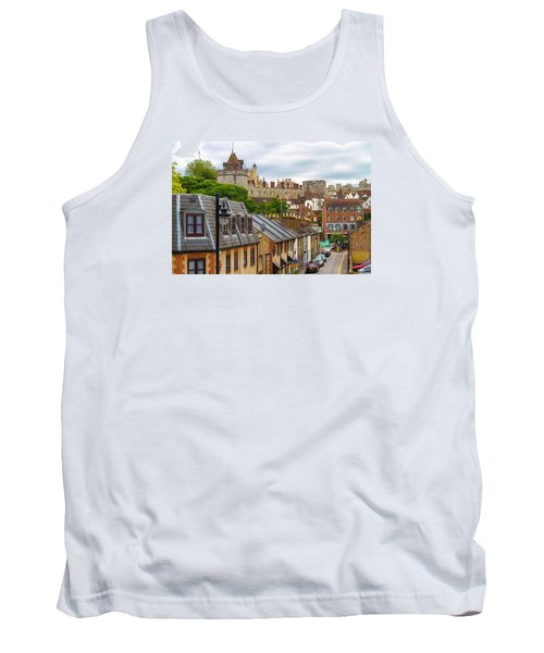 Tank Top featuring the photograph Castle Above The Town by Tim Stanley