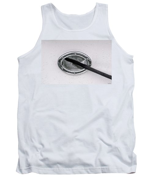 Tank Top featuring the photograph Cat Hole And Hawser No2 by Marty Saccone