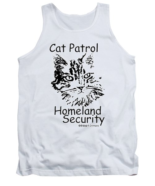Tank Top featuring the photograph Cat Patrol Homeland Security by Robyn Stacey