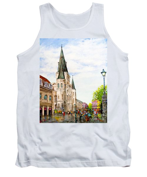 Cathedral Plaza - Jackson Square, French Quarter Tank Top