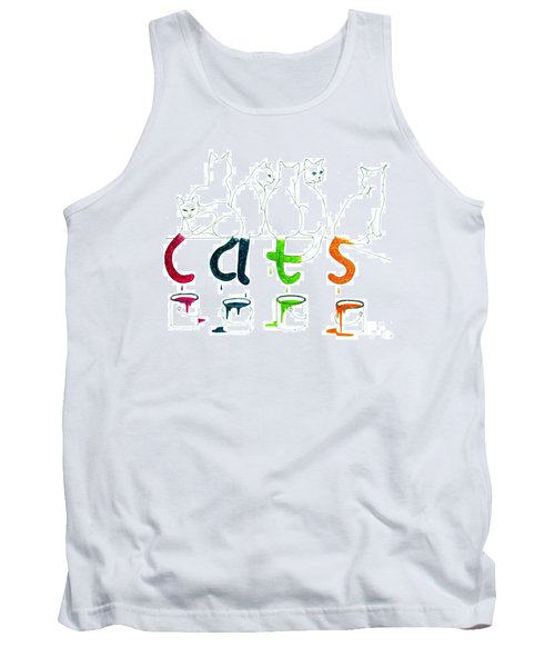 Cats With Paint Cans Tank Top by Patricia Overmoyer