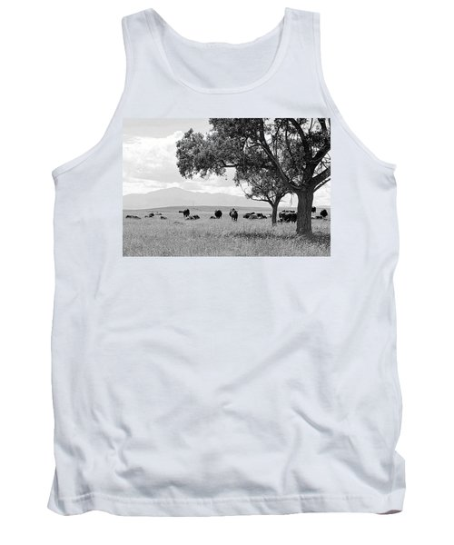 Tank Top featuring the photograph Cattle Ranch In Summer by Clarice  Lakota