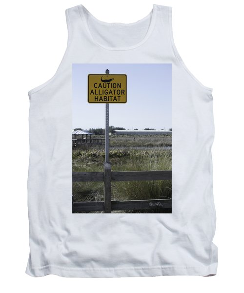 Caution Alligator Habitat Tank Top