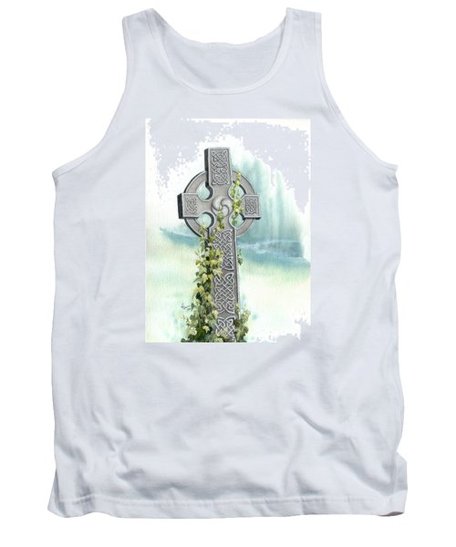 Celtic Cross With Ivy II Tank Top