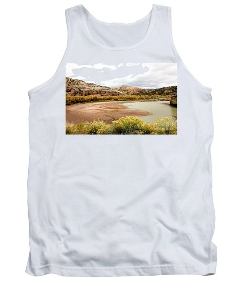 Tank Top featuring the photograph Chama River Swim Spot by Roselynne Broussard