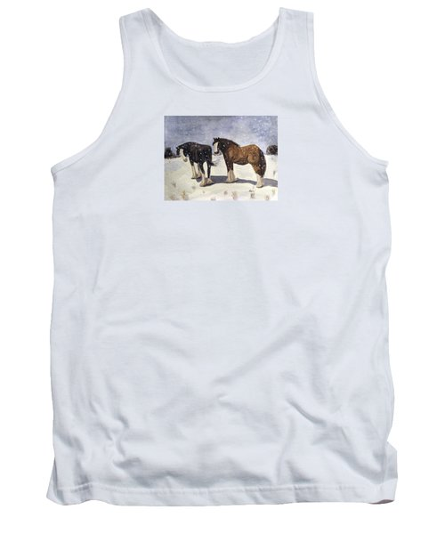 Tank Top featuring the painting Chance Of Flurries by Angela Davies