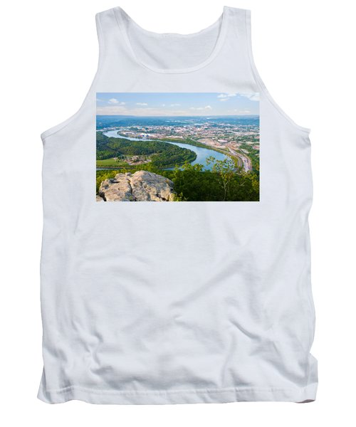 Chattanooga Spring Skyline Tank Top by Melinda Fawver