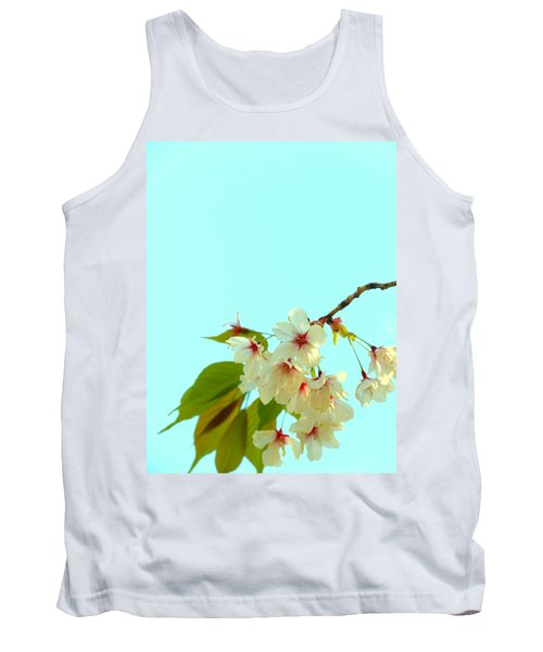 Tank Top featuring the photograph Cherry Blossom Flowers by Rachel Mirror