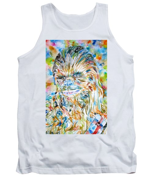 Chewbacca Watercolor Portrait Tank Top
