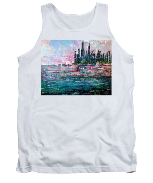 Chicago Morning - Sold Tank Top by George Riney