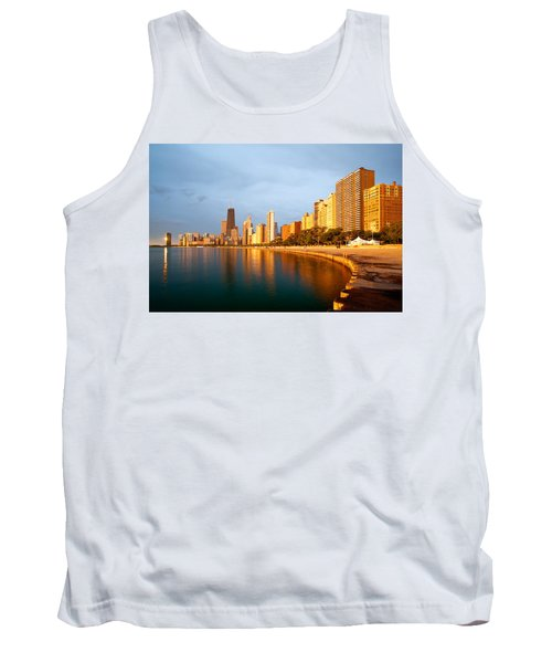 Chicago Skyline Tank Top by Sebastian Musial