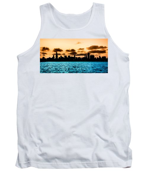 Chicago Skyline Silhouette Tank Top
