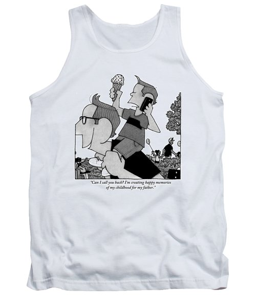 Child On Father's Shoulders Tank Top