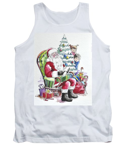 Childre Sneaking Around Santa Tank Top