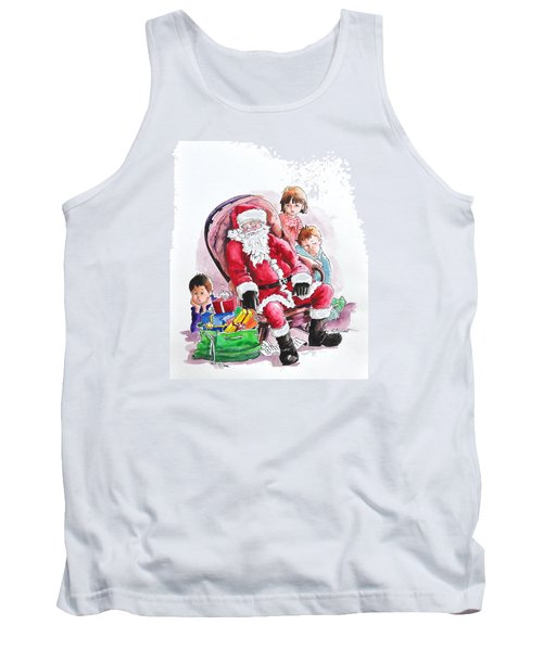 Children Patiently Waiting Up For Santa. Tank Top