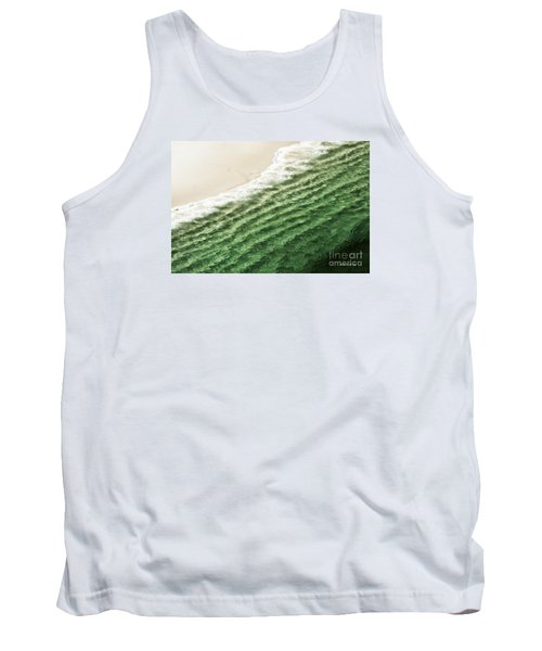 Tank Top featuring the photograph China Beach Wave Ocean Theme Pillow Print Tote by Artist and Photographer Laura Wrede